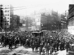 """Cleveland Streetcar Strike of 1899. Courtesy of Case Western Reserve University. """"STREETS - The Encyclopedia of Cleveland History"""", http://ech.case.edu/cgi/article.pl?id=S23. Accessed 18 February 2014."""