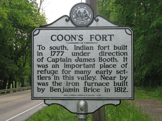 Coon's Fort Historic Marker, Marion County, West Virginia