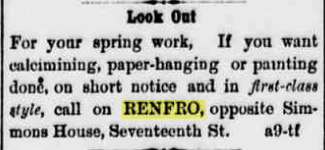 Title: Cheyenne Daily Sun no. 47 April 29, 1882, page 4 Newspaper Name: Cheyenne Daily Sun City: Cheyenne Year: 1882 Month: 04-April Day: 29 Page: 04