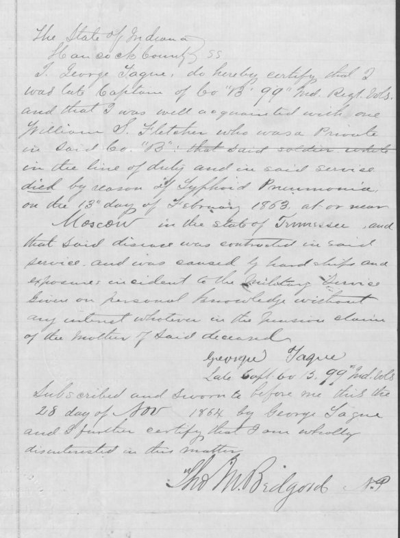 Case Files of Approved Pension Applications of Widows and Other Veterans of the Army and Navy Who Served Mainly in the Civil War and the War With Spain, compiled 1861 - 1934. Fold3.com ().