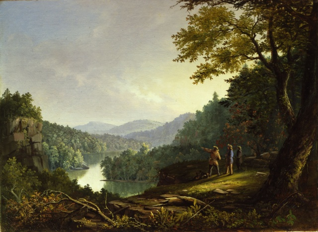 Kentucky Landscape - 1832 James Pierce Barton (1817 - 1891) (American) (Painter) Public domain image from Wikimedia.