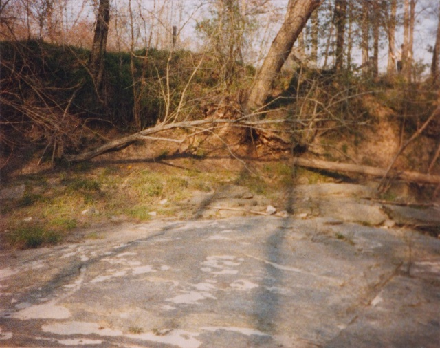 Hunting Creek, Iredell County, North Carolina, which was just south of Anderson Johnson's land. Photo taken by me in 1987.