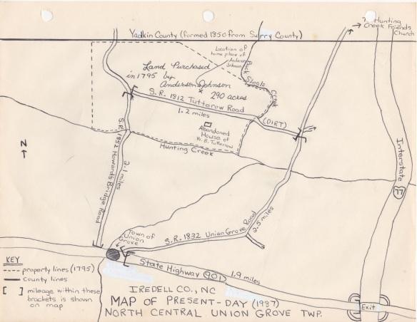 Anderson Johnson Land / Tutterow Road Diagram
