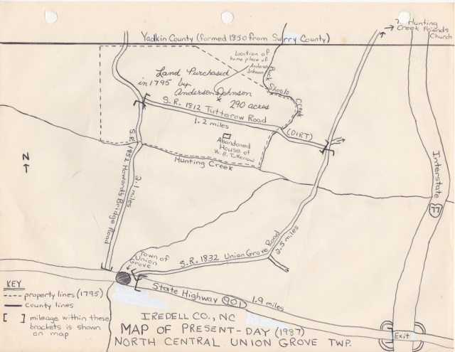 Anderson Johnson Land / Tutterow Road Diagram