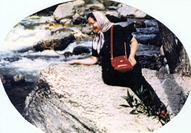 Carol Vernice (VAN DUYN) WILSON, circa mid-1950s, Colorado River.