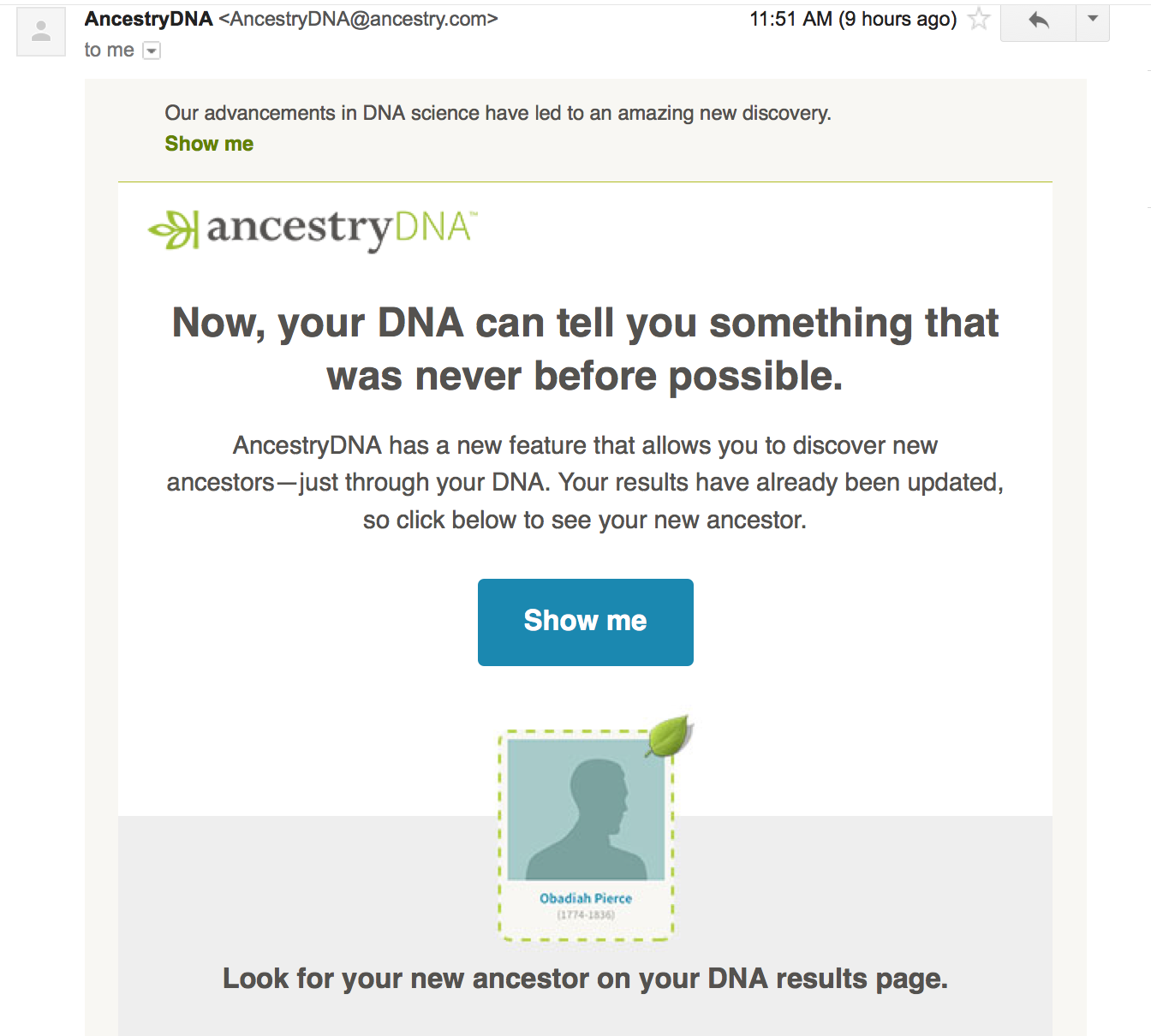 Ost dating dna tests