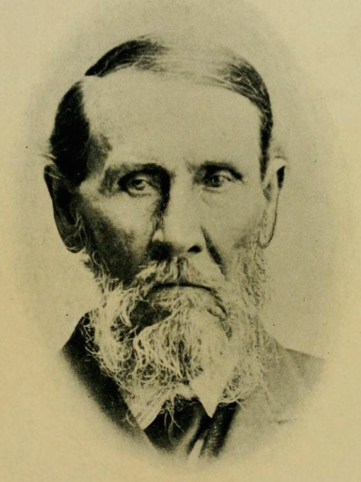 Isaac Van Duyn, portrait. From <em>Hazzard's History of Henry County, Military Edition, Volume 1</em>, 1906, page 444. Downloaded 5 November 2015 from Archive.org in PDF format. Out of copyright.