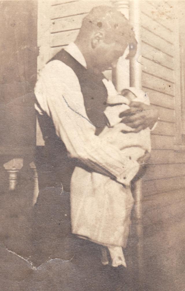Roy U. Wilson, Sr. and his first born, Roy U. Wilson, Jr., October 1922