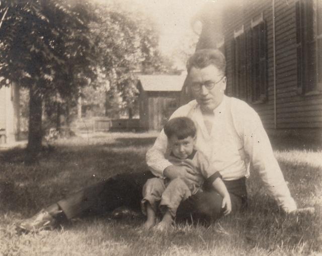 Roy U. Wilson, Sr., and Roy U. Wilson, Jr., circa 1925